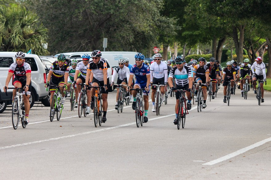 Pro Cycling Miami, a local nonprofit organization, hosted a 50-mile bike ride in memory of Miguel Aviles, a 47 year old cyclist who was recently killed by a truck driver when he fell onto the road about one mile away from U.S. 27 and Interstate 75 when riding with a group of nearly 300 bicyclists. Photo my Matias J. Ocner - Miami Herald Staff