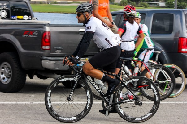 Sandro Marrero, 36, rode alongside 200 cyclists, who participated in a 50-mile bike ride to commemorate Miguel Aviles, a cyclists who was recently killed by a truck driver when he fell onto the road about one mile away from U.S. 27 and Interstate 75.